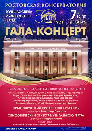 РГК Главная страница 7 декабря в 19 часов на Большой сцене Ростовского музыкального театра самые успешные и талантливые выпускники Ростовской консерватории дали концерт к
